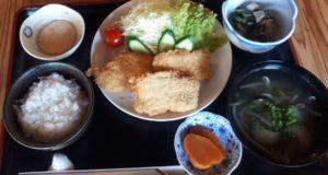 古民家いちふく 魚の白身フライ定食